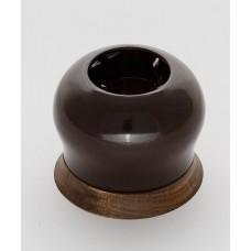 Розетка BIRONI двухполюсная с заземляющим контактом 16А, 250В,  73*73*50мм (в комплекте с одноместной круглой рамкой цвет - Винтаж)
