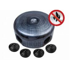 Коробка распределительная BIRONI, негорючий пластик,D78*35мм ( 4 кабельных ввода в комплекте )