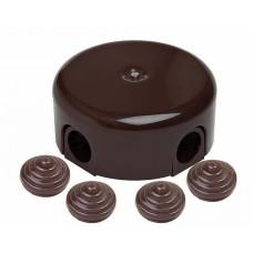 Коробка распределительная BIRONI D78*30мм ( 4 кабельных ввода в комплекте )